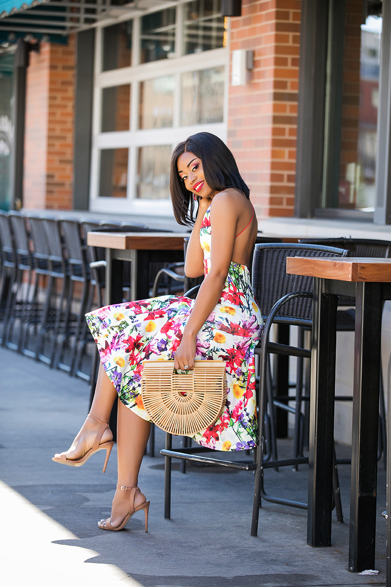 styling spring floral dress, www.jadore-fashion.com