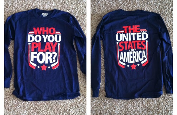 Who do you play for? The United States of America!