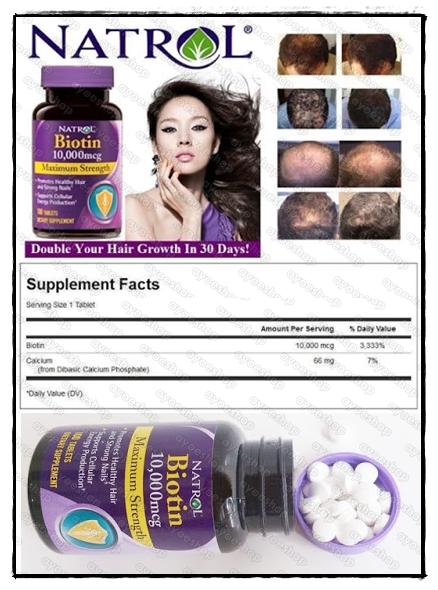 Natrol Biotin 10.000 Mcg Vitamin Suplemen Untuk Rambut