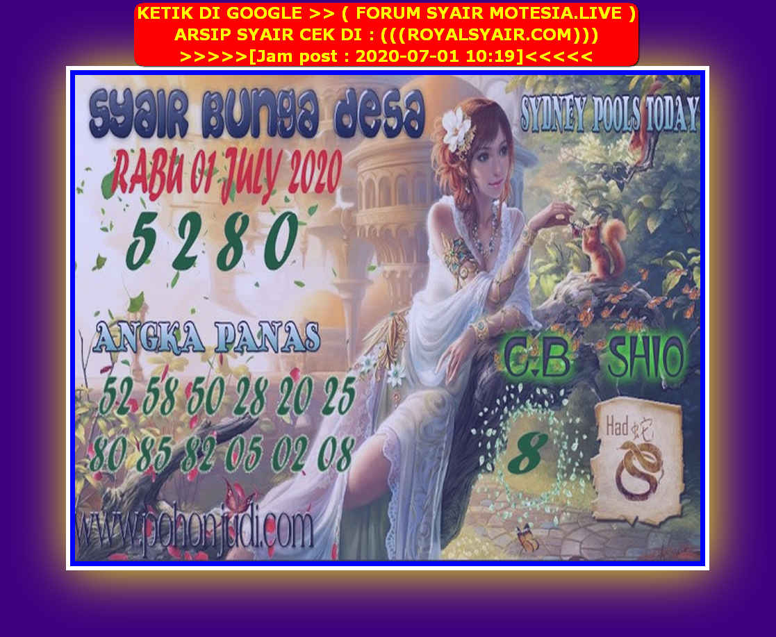 Kode syair Sydney Rabu 1 Juli 2020 175