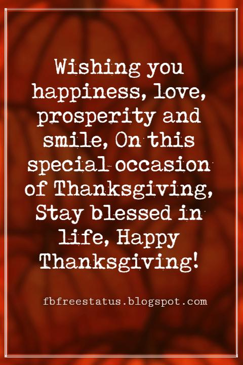 Wishes For Thanksgiving,