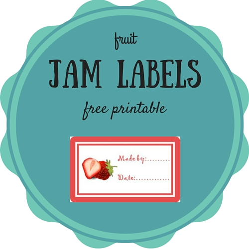 Homemade jam labels - free printable