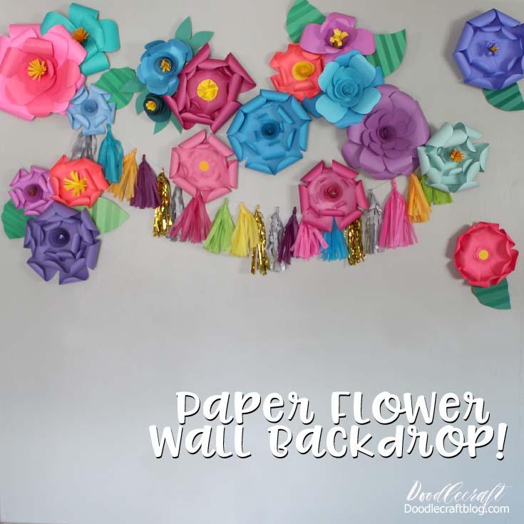 Doodlecraft DIY Paper Flower Wall Backdrop!