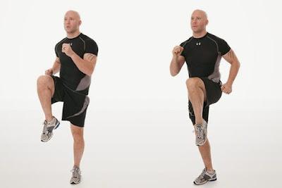 Gerakan High Knee untuk Mengecilkan Perut dengan Cepat