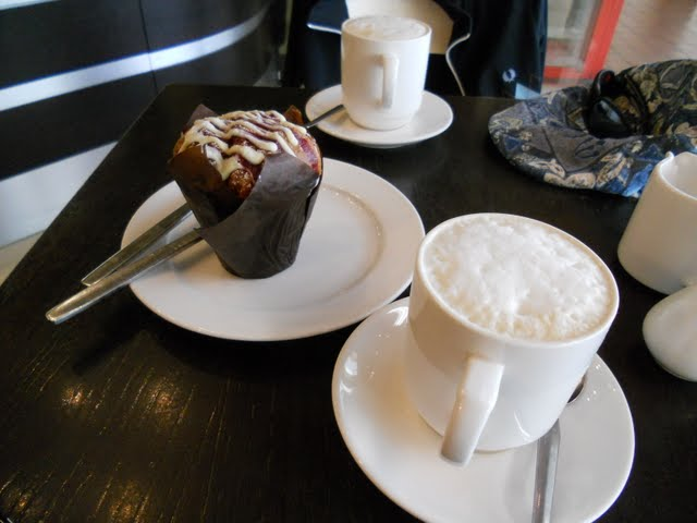 Walk the River Dodder in Dublin - coffee and muffin at Swiss Deli in Rathfarnham