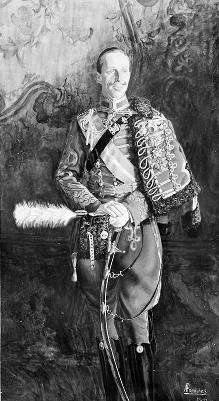 Alejandro Pardiñas Cabré, Retrato de Alfonso XIII, Alfonso XIII, Retrato de Felipe VI, Retratos de Felipe VI, Felipe VI, Cuadro de Felipe VI, Nuevo retrato de Felipe VI, Familia Real Española, Leonor de Borbón, Sofía de Borbón