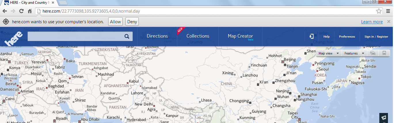 Fake your Geolocation Location in Google Chrome