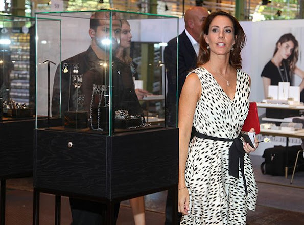 Princess Marie visits as protector Copenhagen Jewellery and Watch Show where she presents award prize at the show in Copenhagen