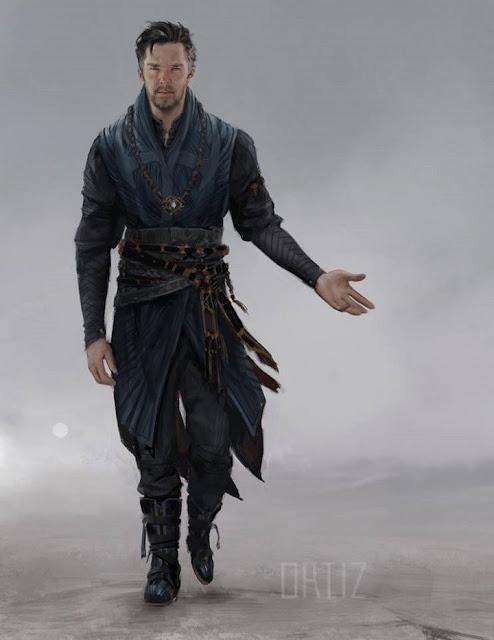 Cumberbatch como Doctor Strange por Karla Ortiz