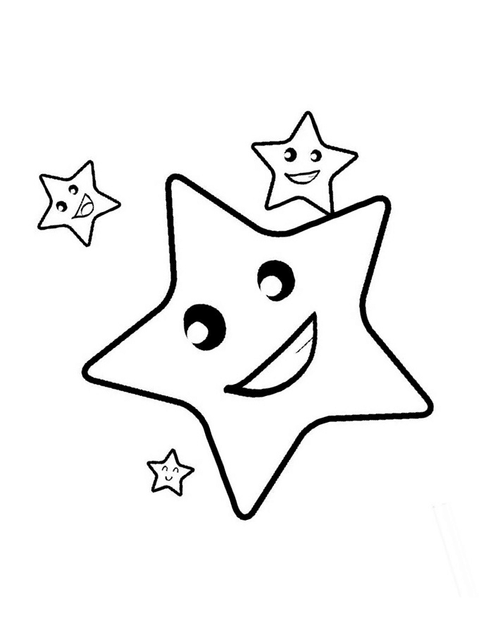 Gambar Mewarnai Bintang : gambar, mewarnai, bintang, Contoh, Gambar, Mewarnai, Bintang, KataUcap