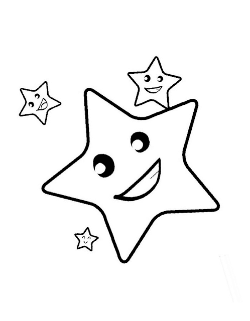 Gambar Mewarnai Bintang - 6