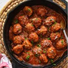 Receta para preparar albóndigas de carne a la italiana con espaguetis