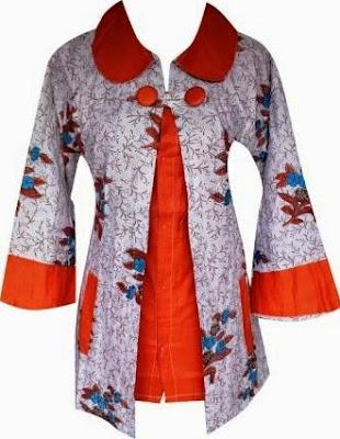 Model Baju Batik Kombinasi Bolero