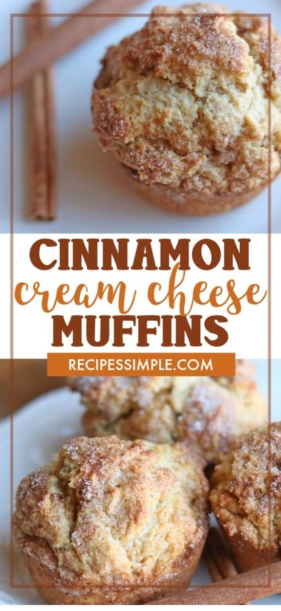 Cinnamon Cream Cheese Muffins