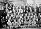 Photograph of pupils at Welham Green Boys' School c 1880
