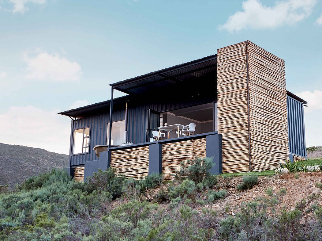 copia eco cabins two 40 ft container home in bot rivier valley by berman kalil south africa