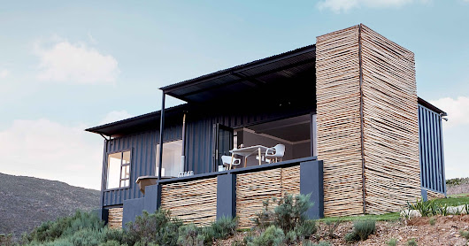 Copia Eco Cabins: Two 40 ft Container Home in Bot Rivier valley by Berman-Kalil, South Africa
