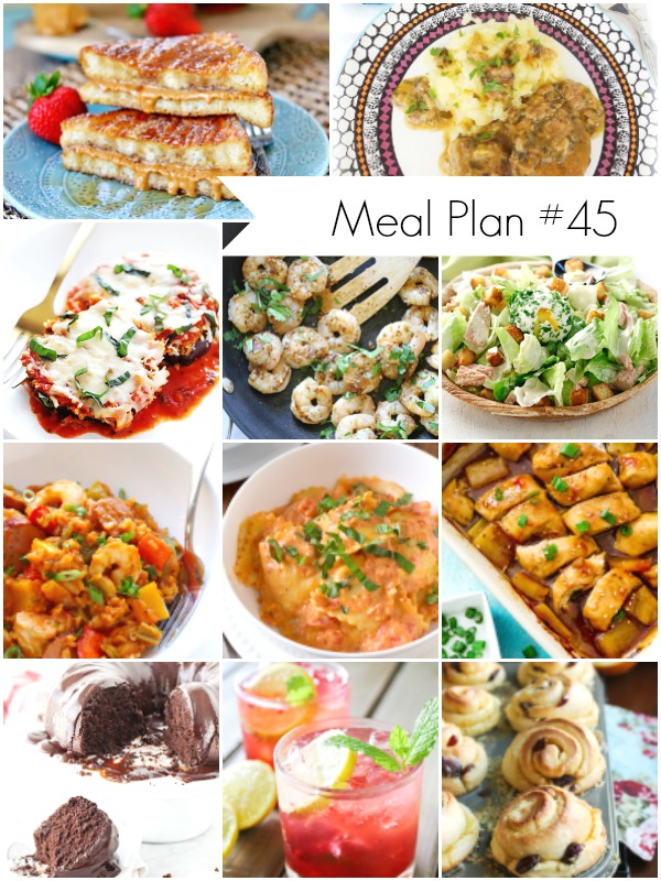 Recipes Round Up for Meal Planning