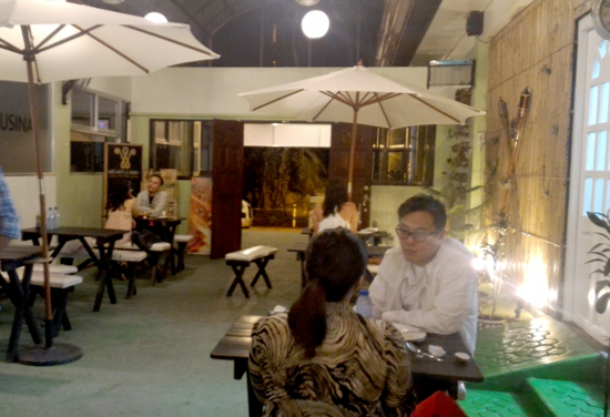 Kusina sa Subli's al Fresco dining area