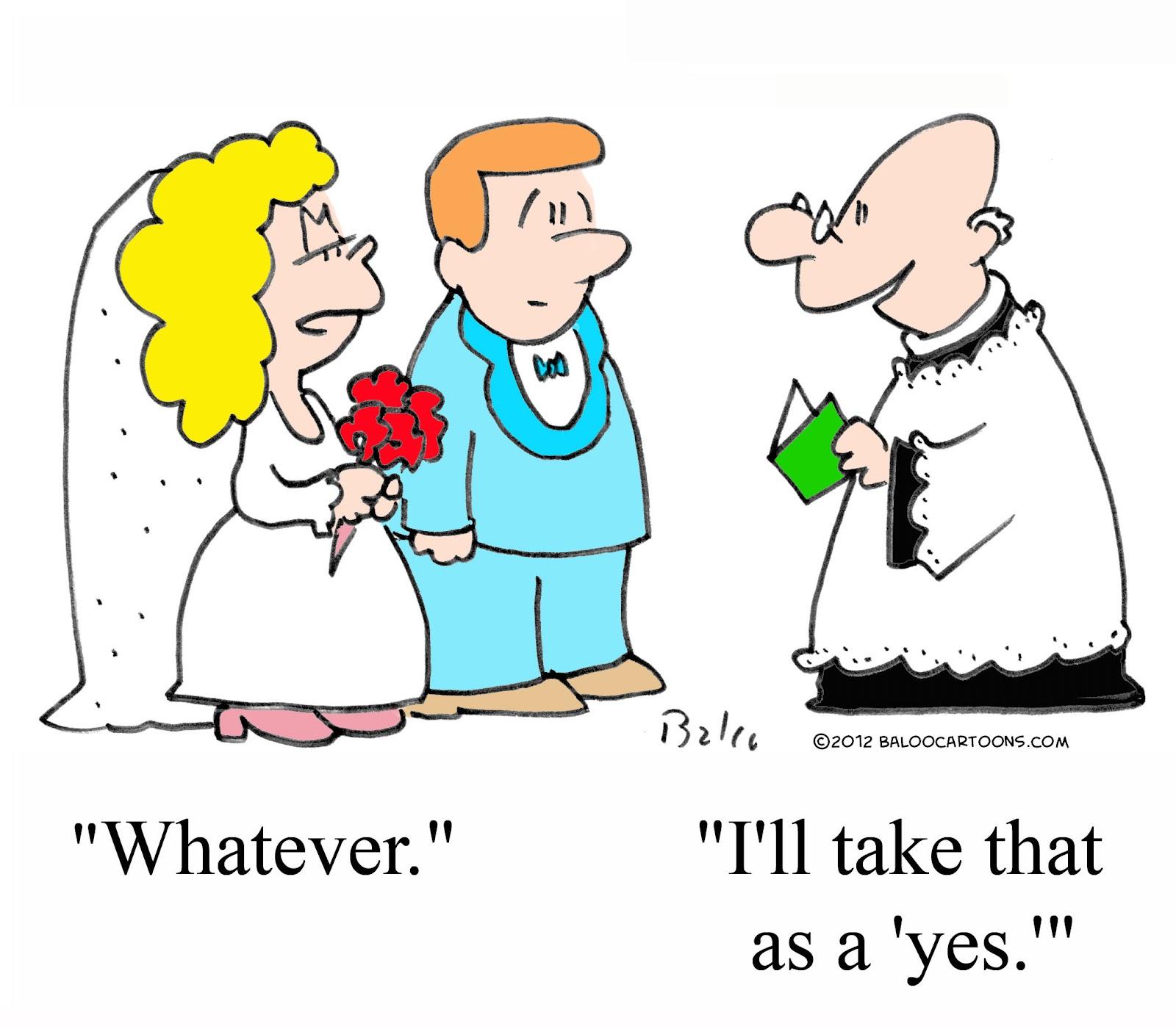 Baloos Non Political Cartoon Blog Wedding