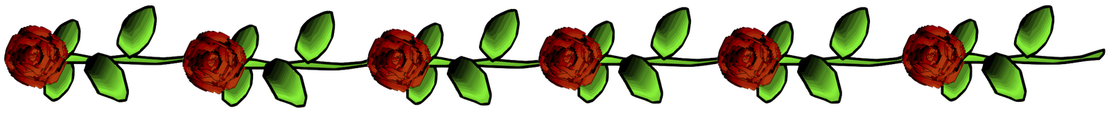 line of roses clipart - photo #1