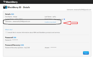 Email BBM Di Android Namun PIN nya Tidak Berubah