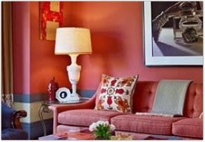 warna cat ruang tamu menurut feng shui merah muda