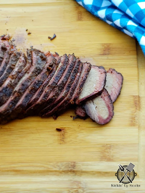 Smoked Brisket recipe from Kickin' Up Smoke
