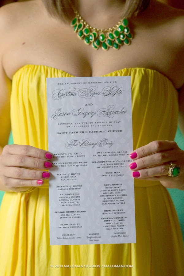 Lattice Pattern Wedding Program