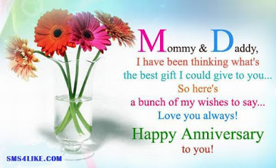 Wedding Anniversary Wishes quotes messages for Parents