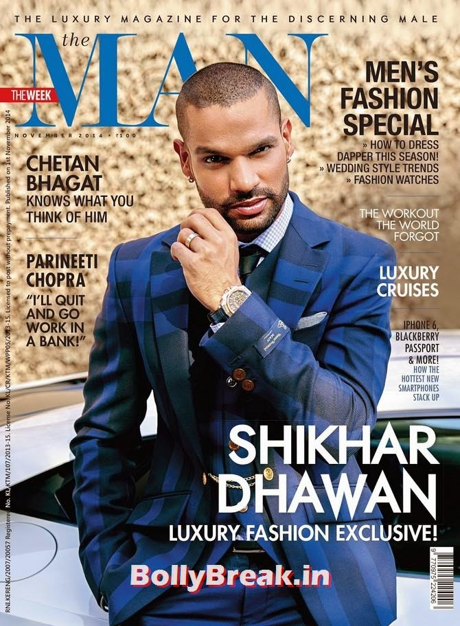 Shikhar Dhawan, Bollywood Actors Hot & Sexy Pics on Magazine Covers