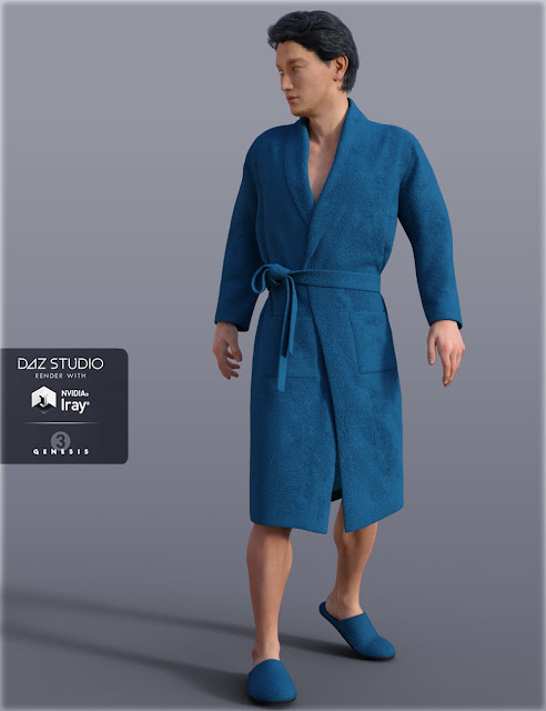 H C Bathrobe Set for Genesis 3 Male