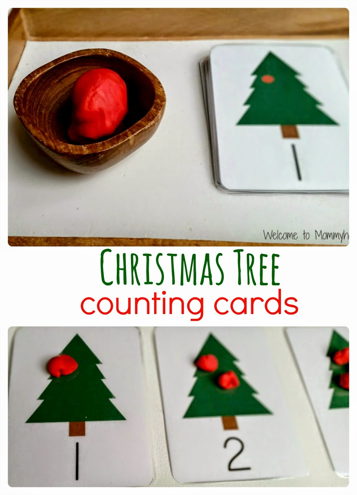 Welcome To Mommyhood Christmas Tree Number Cards