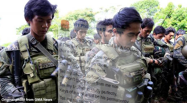 This poem written to give tribute to our fallen soldiers will surely make us burst into tears