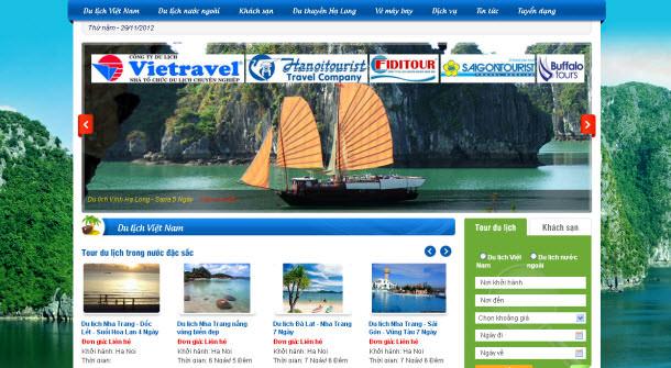 Thiết kế website du lịch đẹp chuyên nghiệp giá rẻ