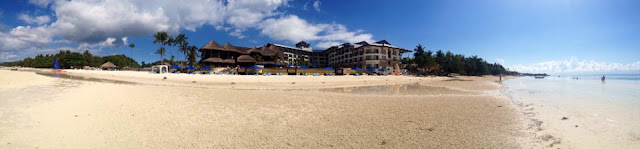 Panorama of Bellevue Resort taken from Doljo Beach Panglao Island Bohol Central Visayas Philippines