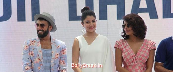 Ranveer Singh, Anushka Sharma, Priyanka Chopra, Hot Pics of Priyanka Chopra Anushka Sharma At 'Dil Dhadakne Do' Music Launch Photo Gallery