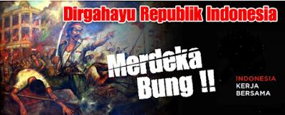 Kartu Ucapan Kemerdekaan Republik Indonesia tahun 2017