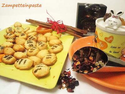 Petites madeleines all'arancia e cannella - Biscotti all'arancia