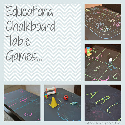 Educational chalkboard table games