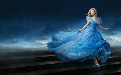 Cinderella running down the stairs