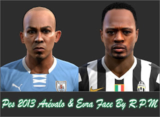 Faces Arevalo Rios & Patrice Evra 2016 Pes 2013