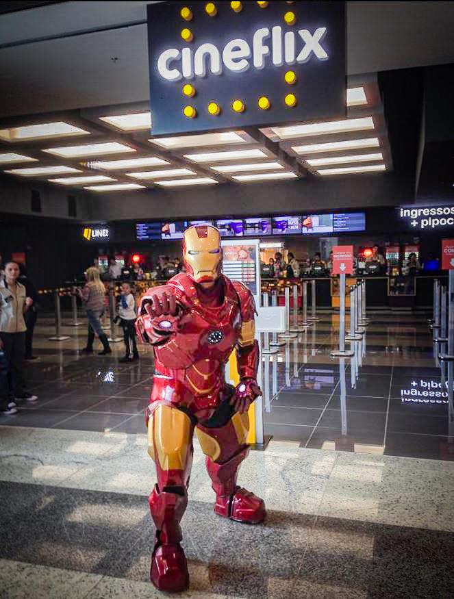 Homem de Ferro no Cineflix Cantareira Norte Shopping