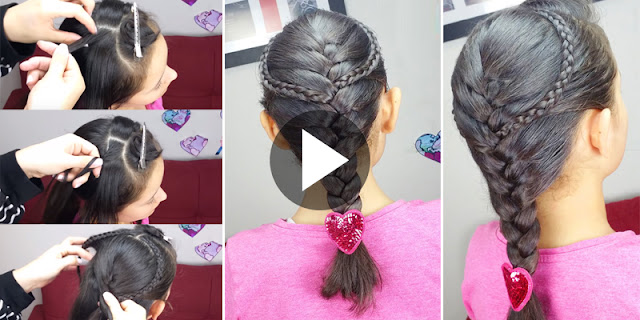 Learn - How To Create Simple And Easy French Braid Hairstyle, See Tutorial