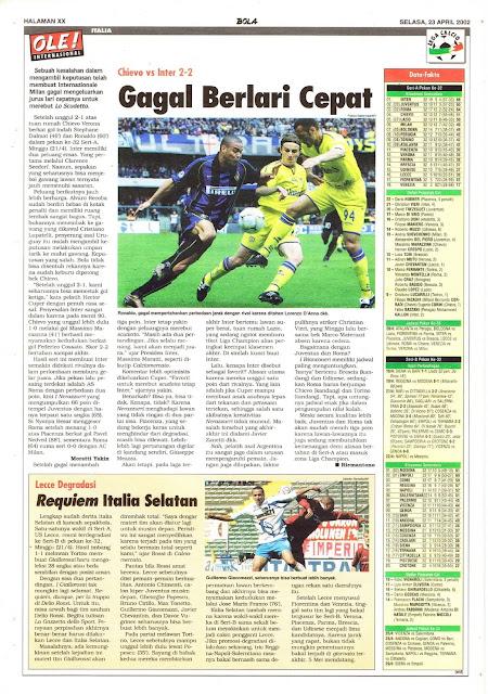 CHIEVO VS INTER 2-2 GAGAL BERLARI CEPAT
