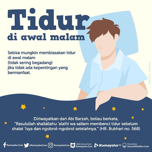 Sebisa Mungkin Biasakan Tidur di Awal Malam, Beserta Adab Sebelum Tidur, Ini Anjuran Rasulullah