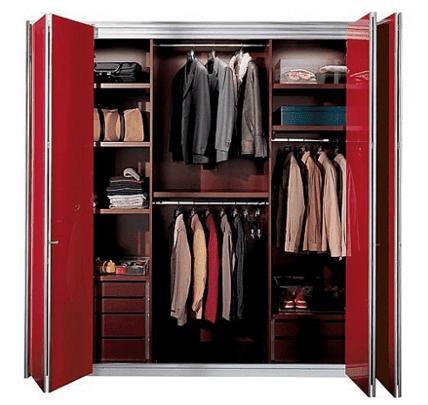 Contoh 3 jenis lemari pakaian untuk design interior modern