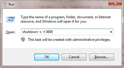 Cách hẹn giờ tự động tắt máy tính
