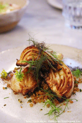 Caramelized Young Fennel, Anchovy Butter, Herbed Breadcrumbs at Ellsworth in Paris