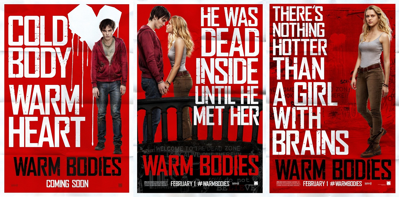 in warm bodies the main character What makes the film work is that it never veers off its straight and narrow path,  and you can't help but fall in love with the main characters i hope.